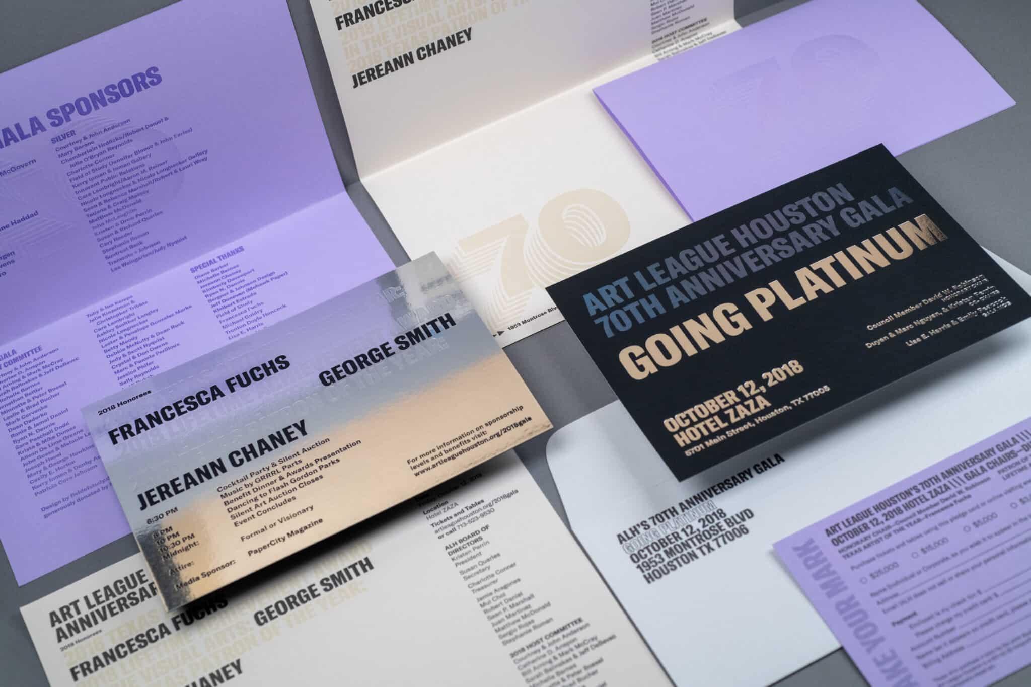 Art League Houston Going Platinum gala