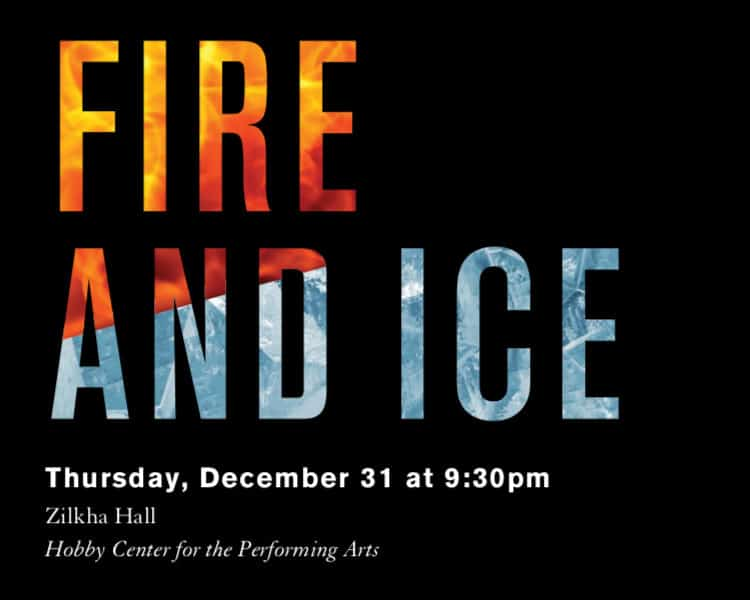 Fire and Ice concert graphic for Ars Lyrica Houston| Designed by Field of Study: A branding and graphic design consultancy | Houston TX | Jennifer Blanco & John Earles