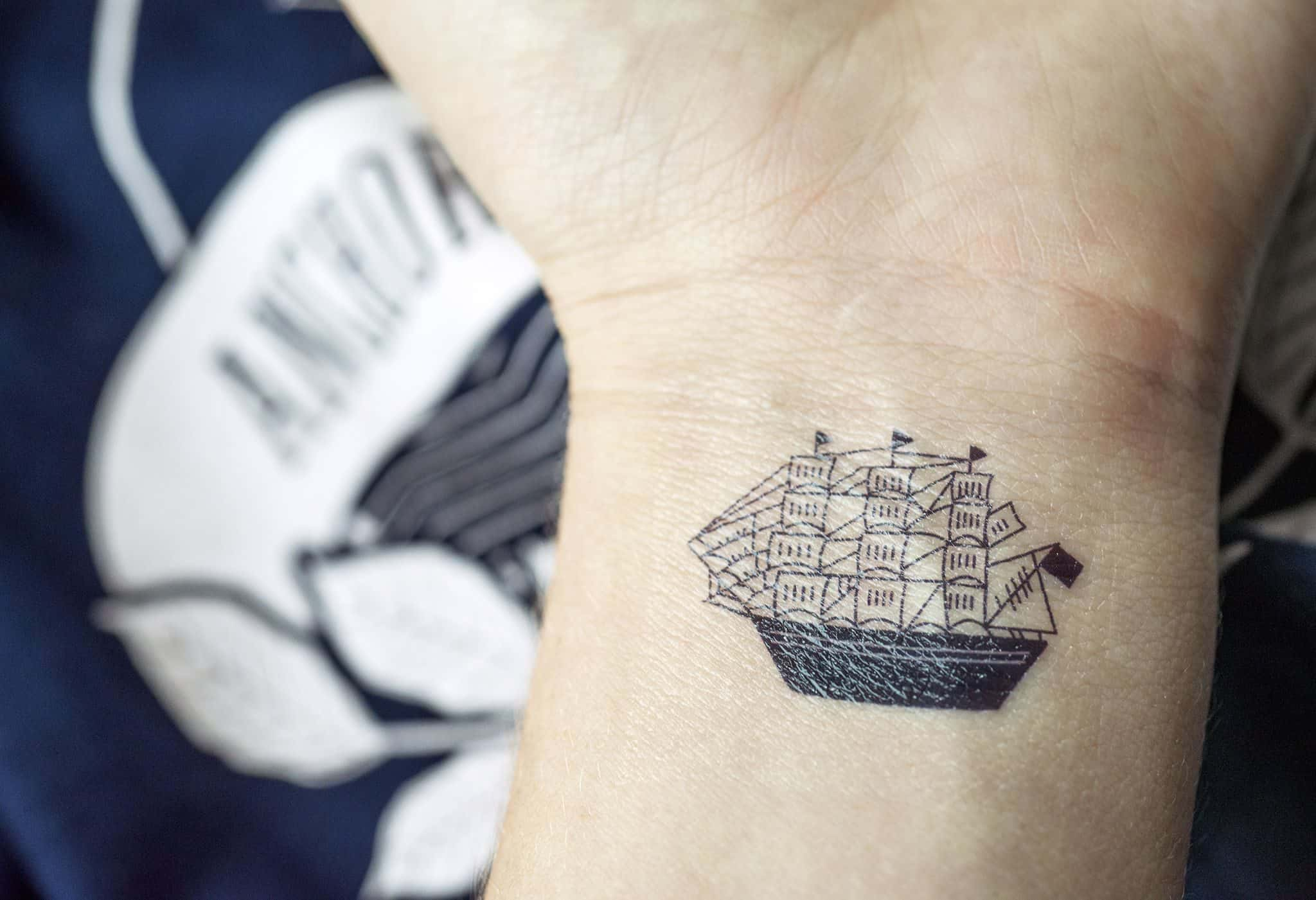 Tattly temporary tattoo for Amaya Roasting Co | Designed by Field of Study: A branding and graphic design consultancy | Houston TX | Jennifer Blanco & John Earles