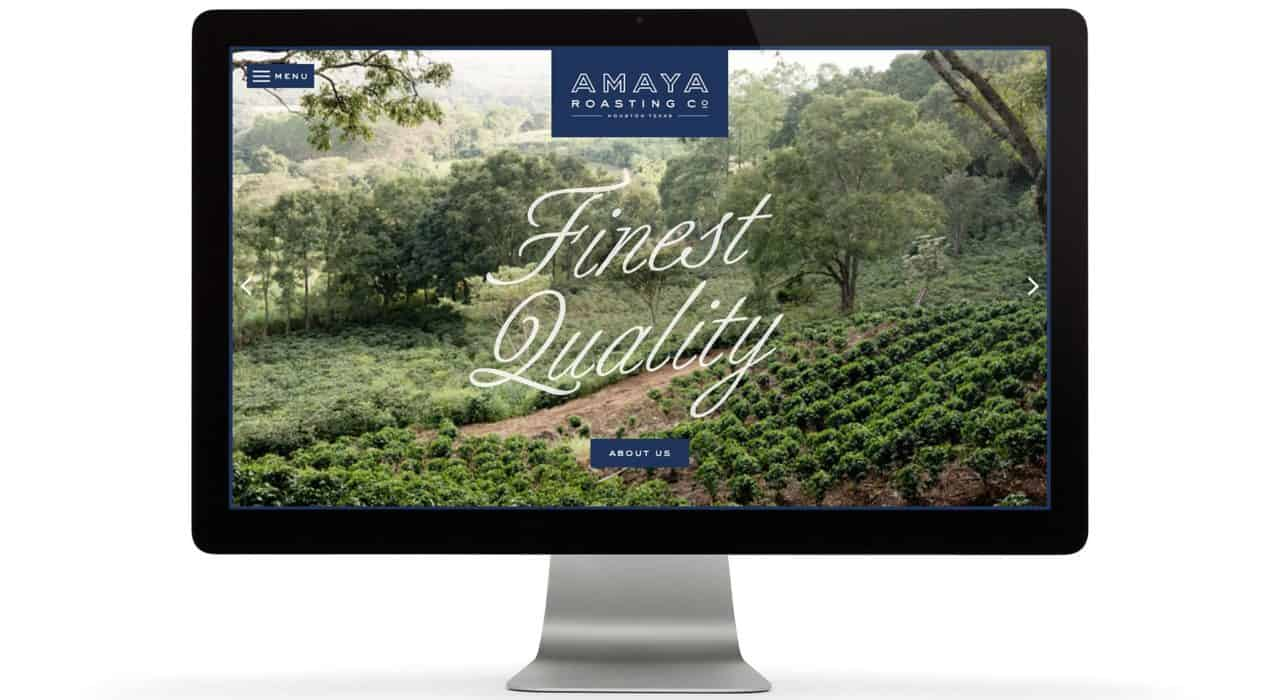 Homepage, Custom Shopify Website Design and development for Amaya Roasting Co | Designed by Field of Study: A branding and graphic design consultancy | Houston TX | Jennifer Blanco & John Earles