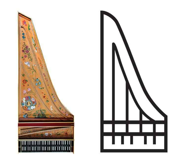 Harpsichord icon for Ars Lyrica Houston | Designed by Field of Study: A branding and graphic design consultancy | Houston TX | Jennifer Blanco & John Earles