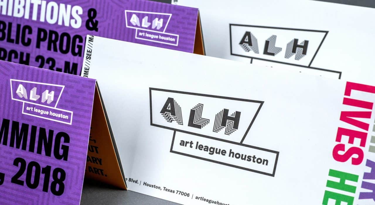 Programming and exhibition guide for Art League Houston | Designed by Field of Study: A branding and graphic design consultancy | Houston TX | Jennifer Blanco & John Earles