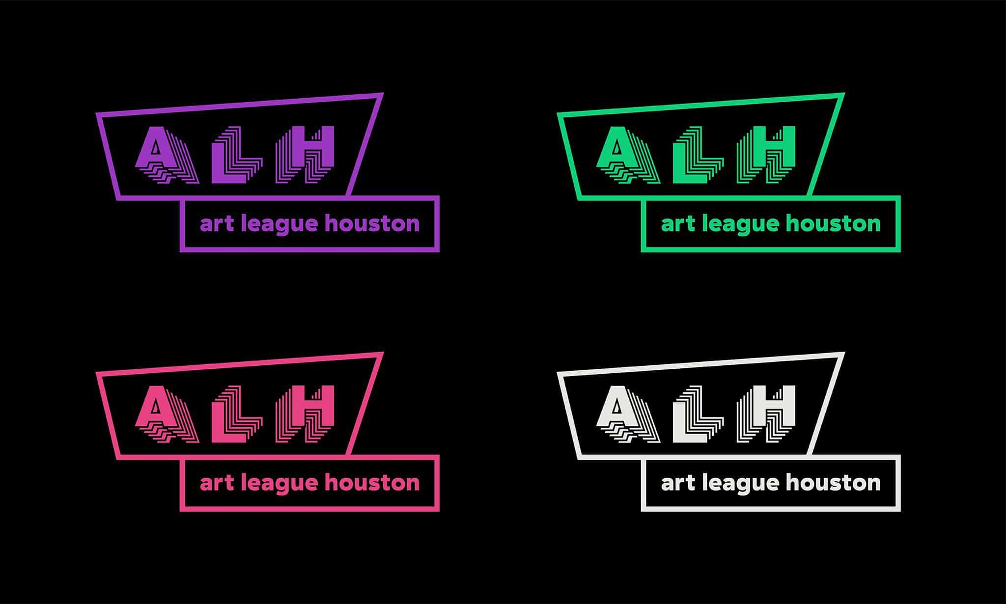 Logo variations for Art League Houston | Designed by Field of Study: A branding and graphic design consultancy | Houston TX | Jennifer Blanco & John Earles