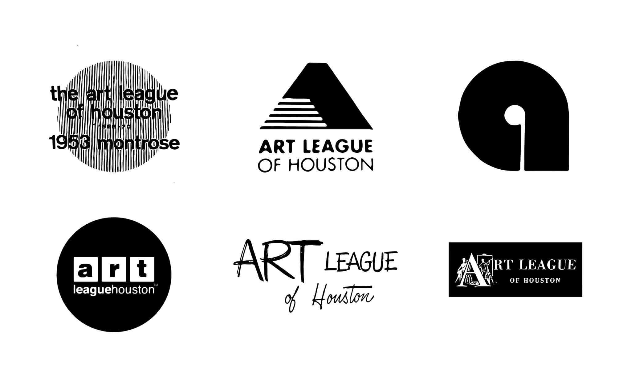 Previous logos, Art League Houston | Designed by Field of Study: A branding and graphic design consultancy | Houston TX | Jennifer Blanco & John Earles