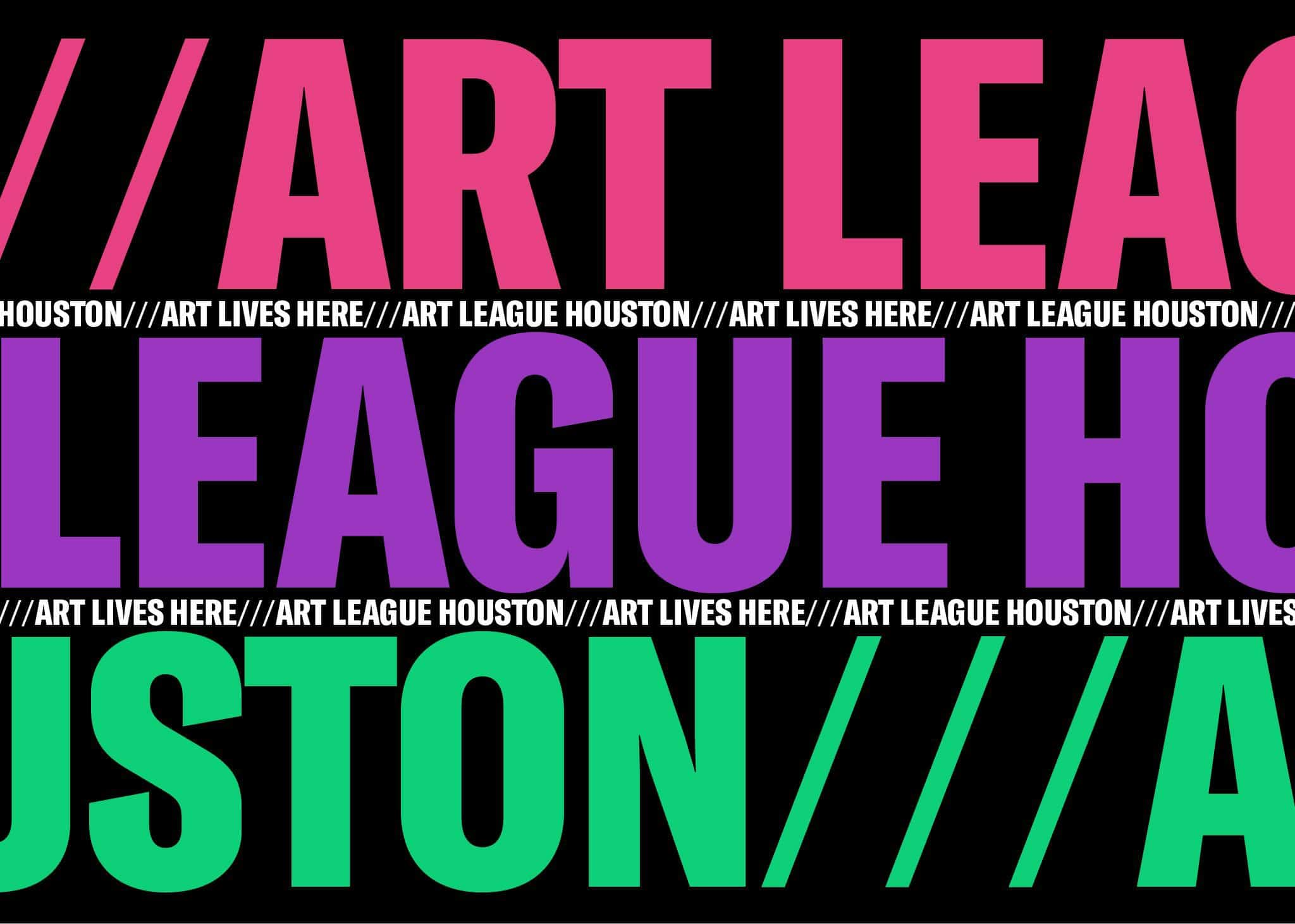 Brand development, website, strategy, graphic design, and signage for Art League Houston, Texas | Field of Study: A Design & Branding Consultancy.