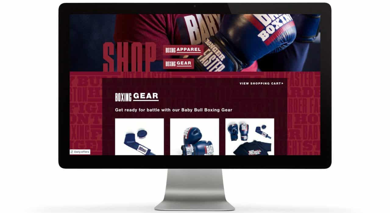 Website design for Baby Bull Boxing | Designed by Field of Study: A branding and graphic design consultancy | Houston TX | Jennifer Blanco & John Earles