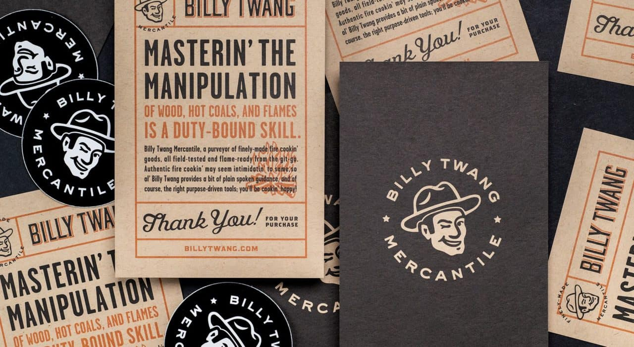 Billy Twang Mercantile, Logo, Branding, and packaging, Houston, Texas | Field of Study Design | Jennifer Blanco & John Earles