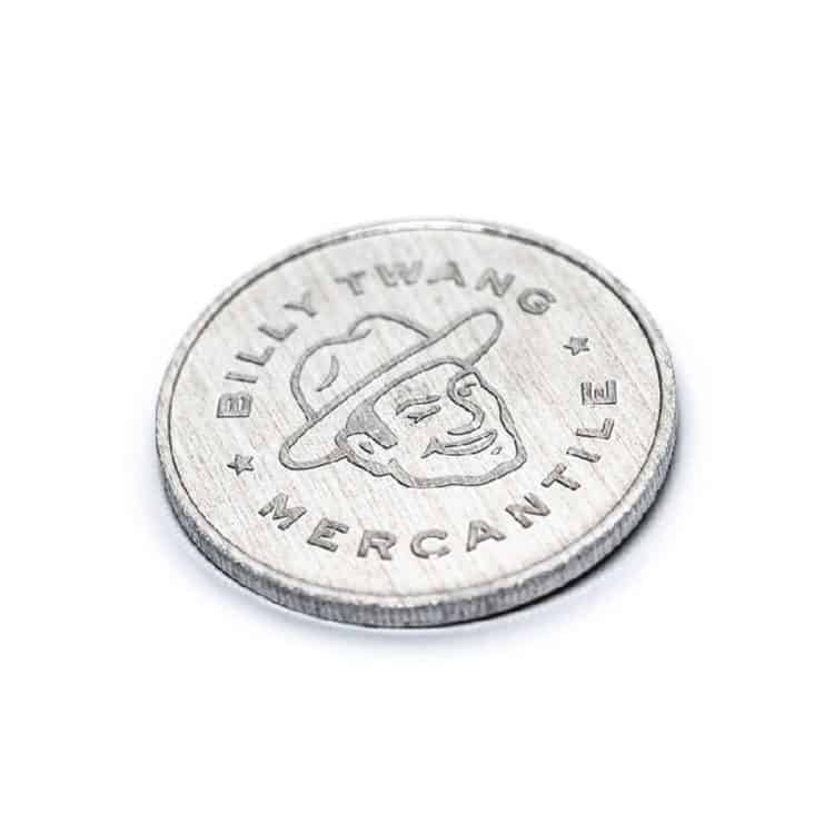 Product, strikin' coin, Billy Twang Mercantile, Los Angeles, CA | Designed by Field of Study: A branding and graphic design consultancy | Houston TX | Jennifer Blanco & John Earles