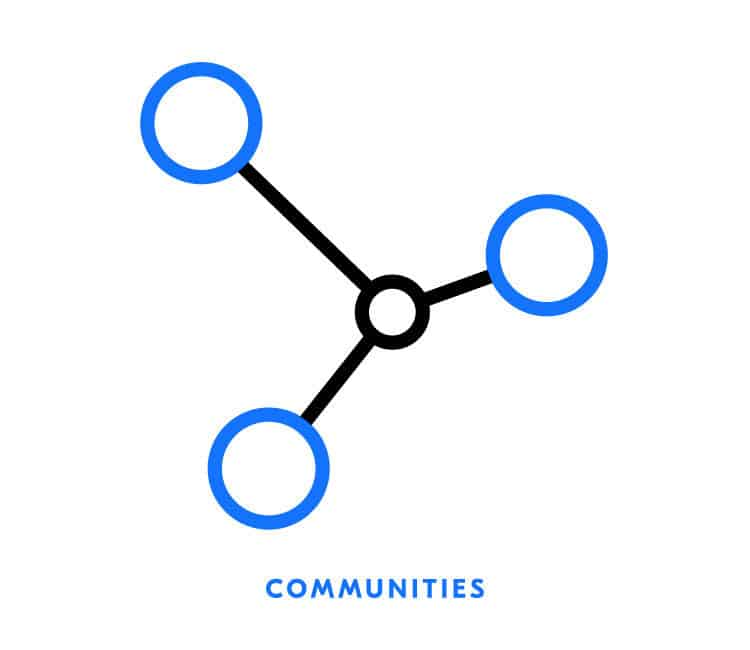 Communities icon for Element Blue | Designed by Field of Study: A branding and graphic design consultancy | Houston TX | Jennifer Blanco & John Earles