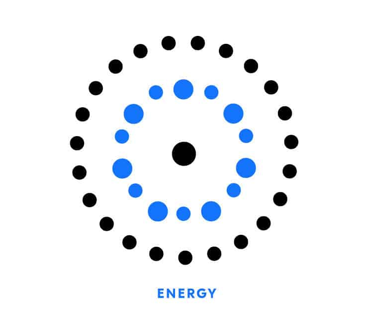 Energy icon for Element Blue | Designed by Field of Study: A branding and graphic design consultancy | Houston TX | Jennifer Blanco & John Earles