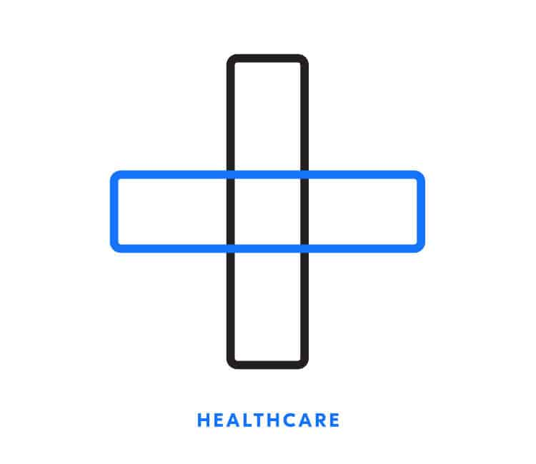 Healthcare icon for Element Blue | Designed by Field of Study: A branding and graphic design consultancy | Houston TX | Jennifer Blanco & John Earles