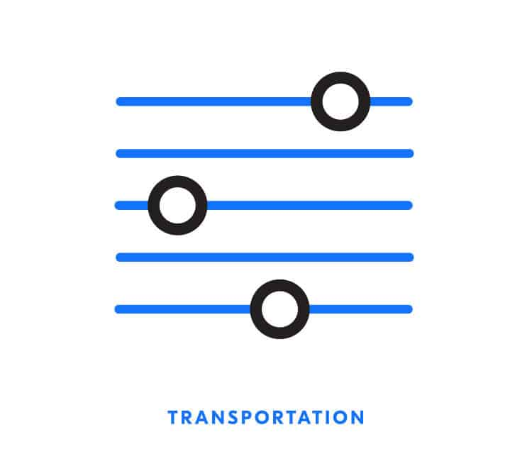 Transportation icon for Element Blue | Designed by Field of Study: A branding and graphic design consultancy | Houston TX | Jennifer Blanco & John Earles