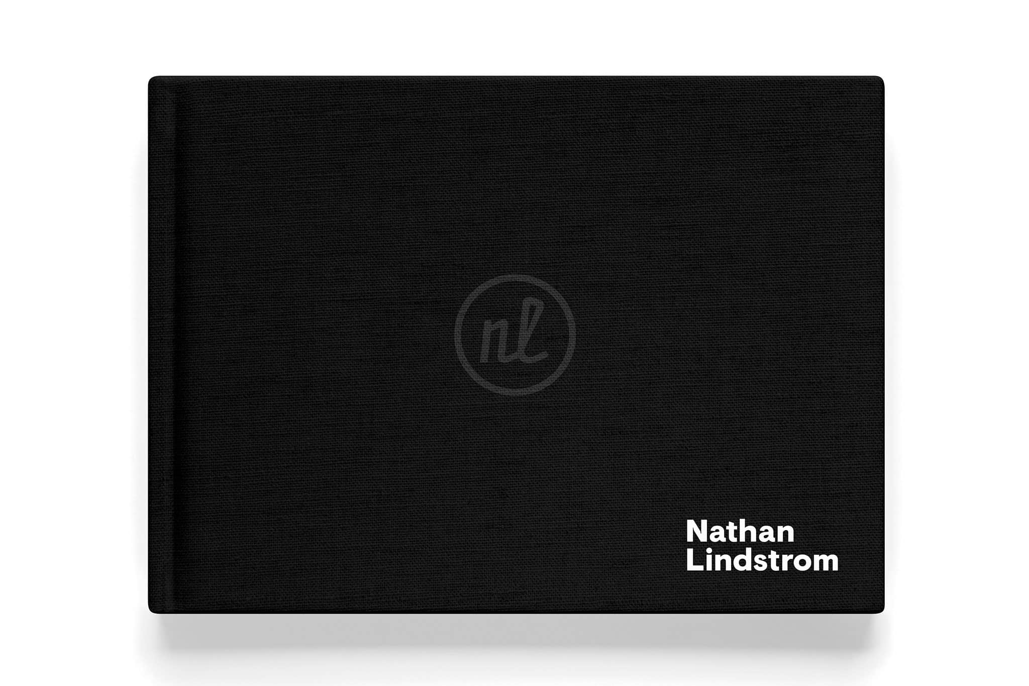 Portfolio cover for Nathan Lindstrom Photography | Designed by Field of Study: A branding and graphic design consultancy | Houston TX | Jennifer Blanco & John Earles