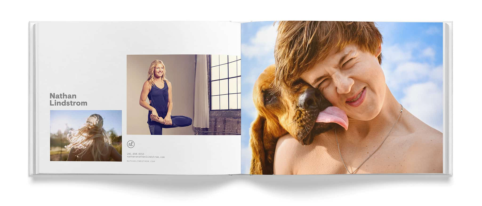 Portfolio spread for Nathan Lindstrom Photography | Designed by Field of Study: A branding and graphic design consultancy | Houston TX | Jennifer Blanco & John Earles