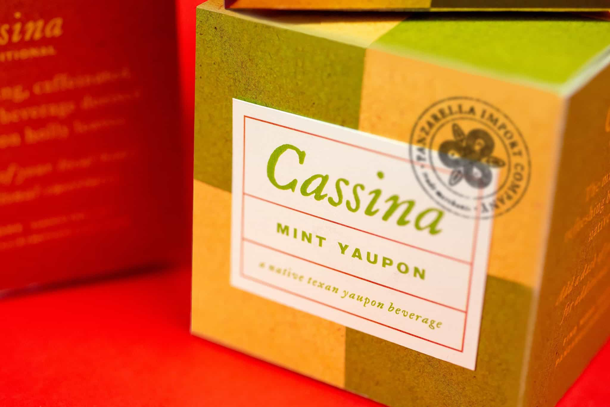Yaupon tea packaging box detail for Panzarella Import Company | Designed by Field of Study: A branding and graphic design consultancy | Houston TX | Jennifer Blanco & John Earles