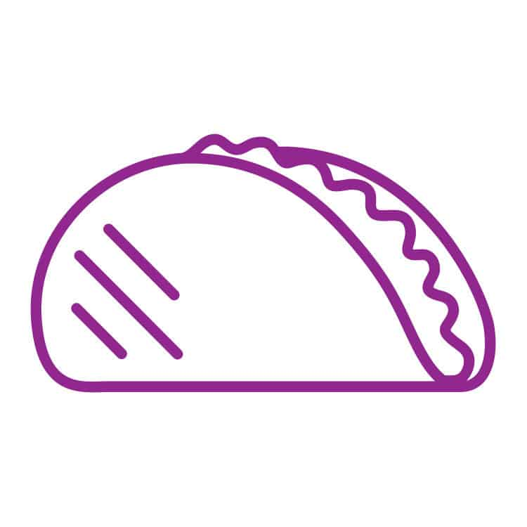 Taco tuesday icon graphic for Luke Brawner's podcast, the H | Designed by Field of Study: A branding and graphic design consultancy | Houston TX | Jennifer Blanco & John Earles