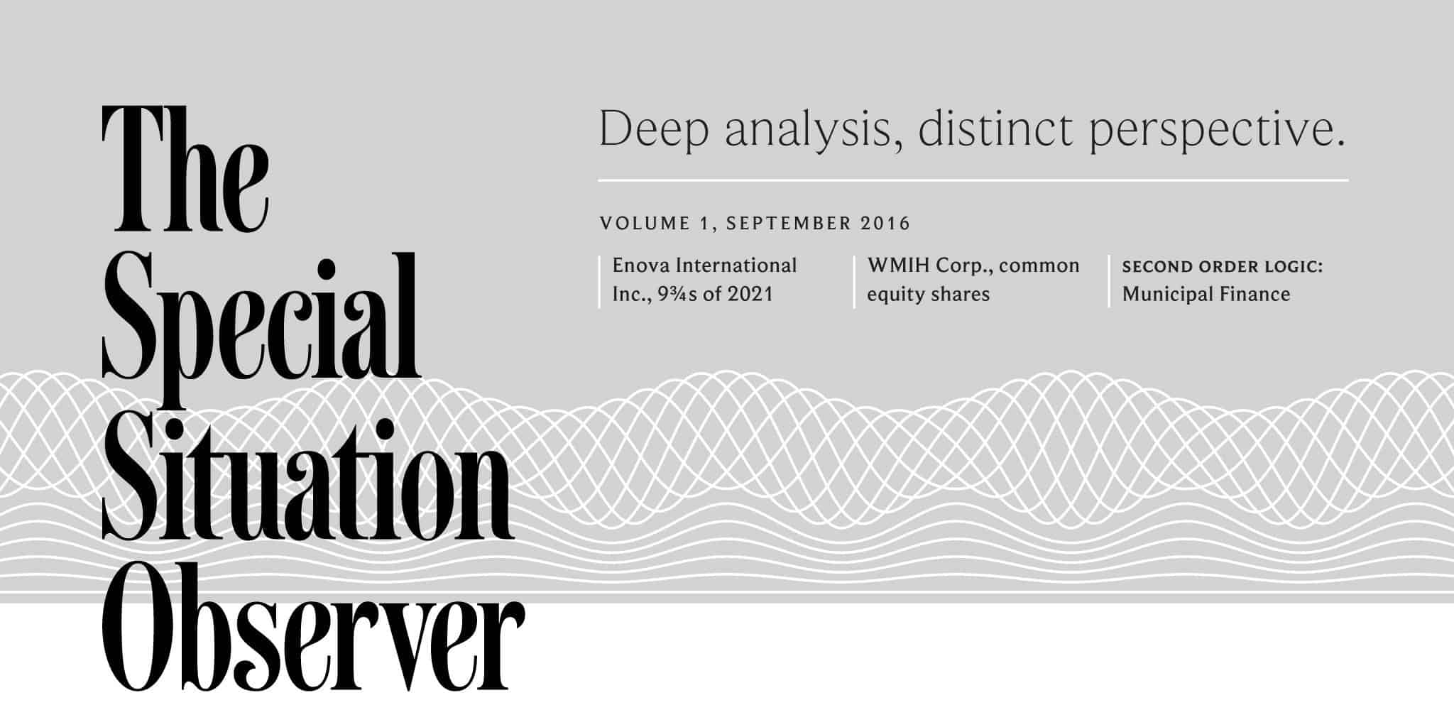 Masthead design and typography for The Special Situation Observer | Designed by Field of Study: A branding and graphic design consultancy | Houston TX | Jennifer Blanco & John
