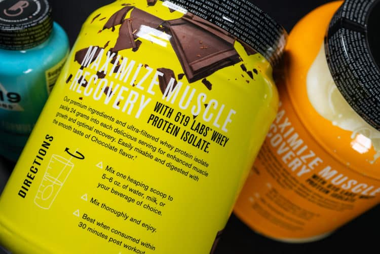 Custom packaging, graphic design, and branding for 619 Labs fitness and nutritional supplements, back panel detail | Designed by Field of Study: A Design & Branding Consultancy | Jennifer Blanco & John Earles