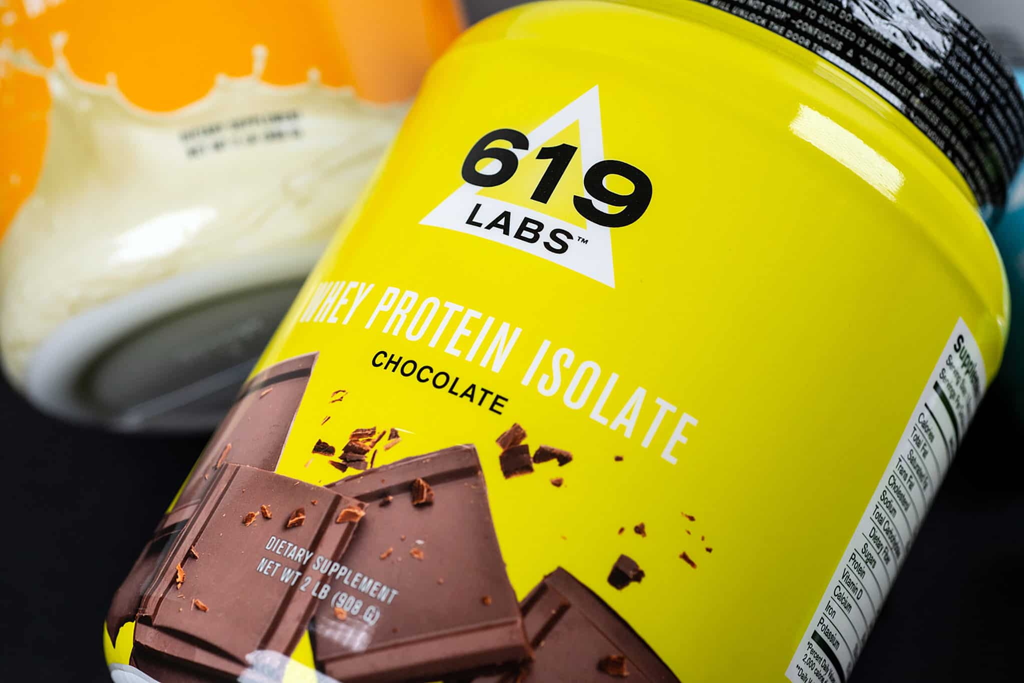 Custom packaging for 619 Labs line of nutritional and fitness supplements | Designed by Field of Study: A branding and graphic design consultancy | Houston TX | Jennifer Blanco & John Earles