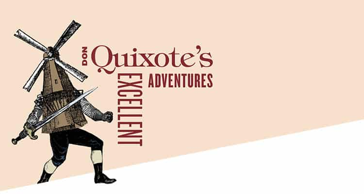 Don Quixote's Excellent Adventures cover design for Ars Lyrica Houston | Designed by Field of Study: A branding and graphic design consultancy | Houston TX | Jennifer Blanco & John Earles