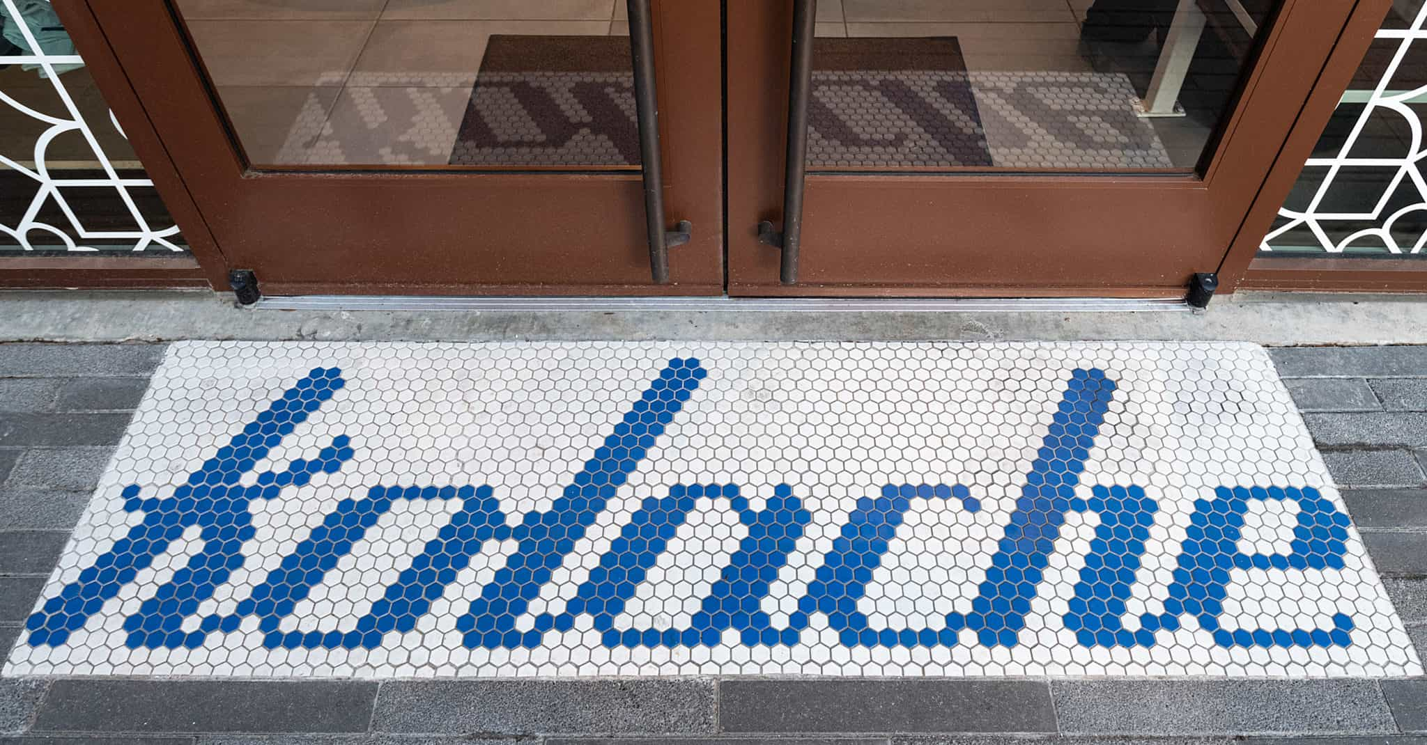 Custom Kolache Hex Tile for Kolache Shoppe Heights | Designed by Field of Study: A branding and graphic design consultancy | Houston TX | Jennifer Blanco & John Earles