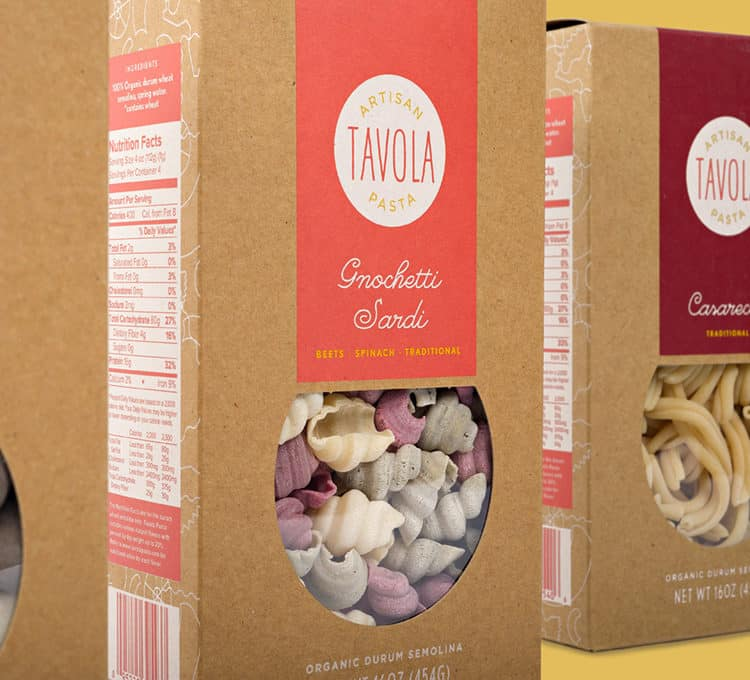 Packaging Detail for Tavola Pasta | Designed by Field of Study: A branding and graphic design consultancy | Houston TX | Jennifer Blanco & John Earles