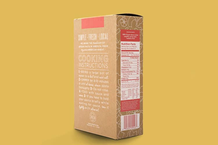 Box Detail for Tavola Pasta | Designed by Field of Study: A branding and graphic design consultancy | Houston TX | Jennifer Blanco & John Earles