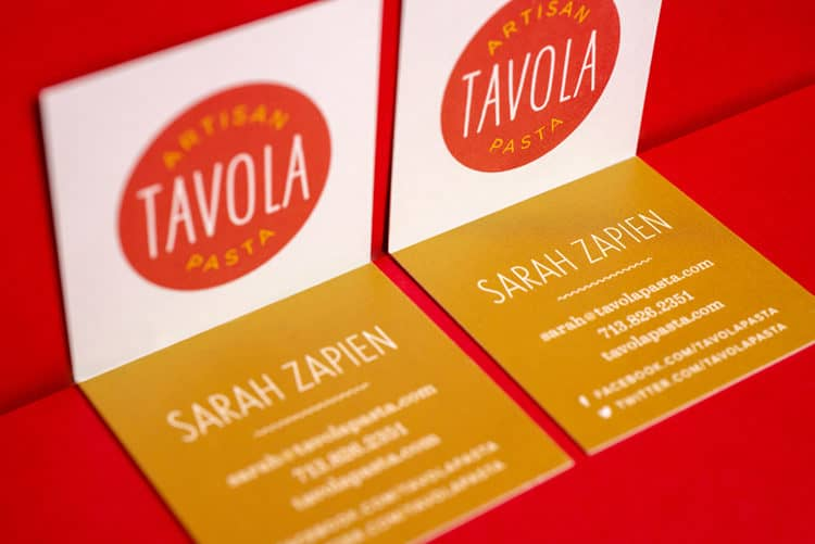 Stationery for Tavola Pasta | Designed by Field of Study: A branding and graphic design consultancy | Houston TX | Jennifer Blanco & John Earles