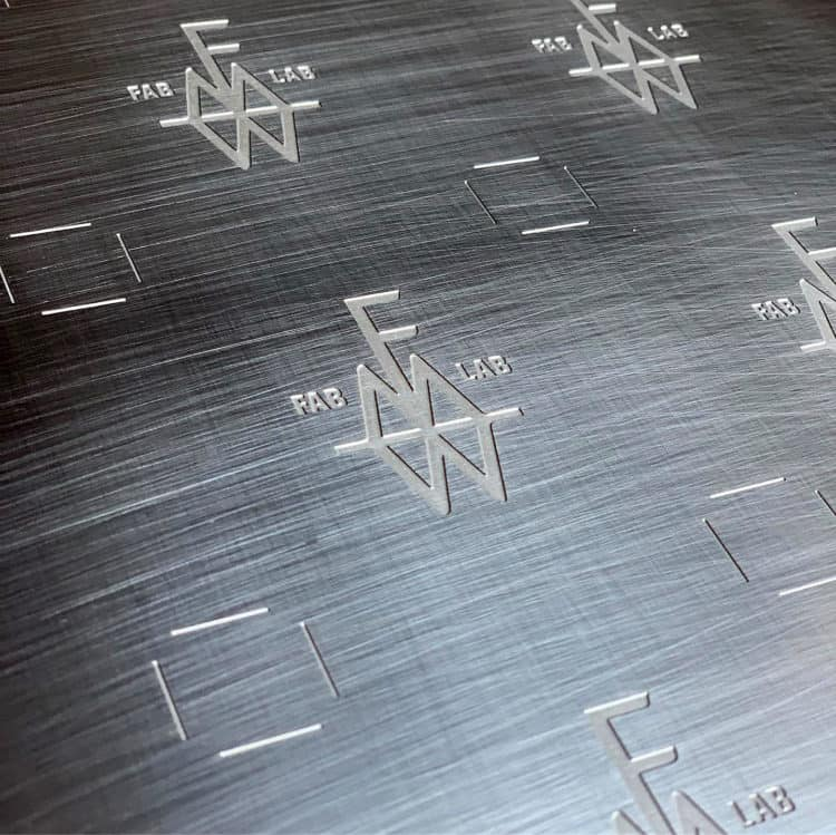 FMW|FabLab stainless steel product tags
